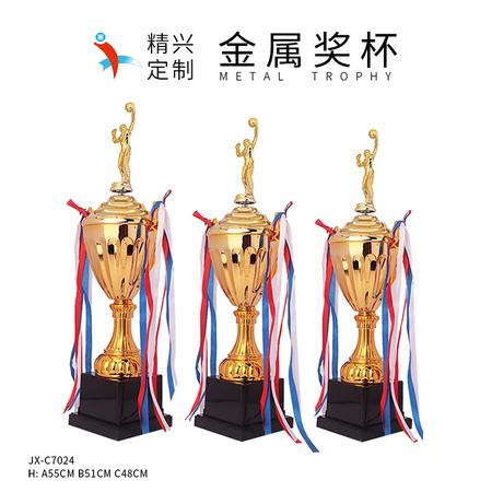 篮球排球奖杯定做 体育运动小金人奖杯 金属奖杯现货直销