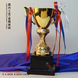 比赛奖杯定制金属奖杯定做 知识主持人评选奖杯奖牌制作