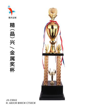 新款奖杯大号金属奖杯订制 多层奖杯配件可换篮球足球电竞比赛奖杯